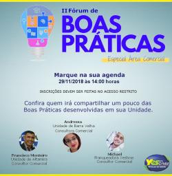 II FÓRUM DE BOAS PRÁTICAS - COMERCIAL